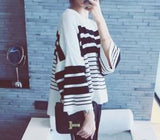 Striped Sweater Black Winter Wear- Available online on Buyvel