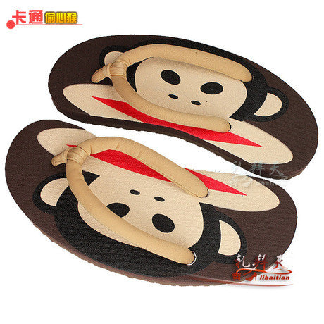 Monkey Flip Flops/ Home Slippers/ bathroom slippers Women's Sandals- Buyvel