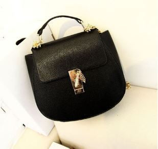 Korean  Cross Shoulder Bag cum clutch Black Handbags- Available online on Buyvel