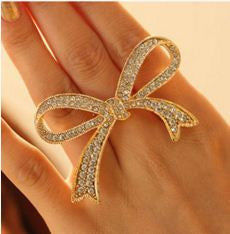Golden And Silver Butterfly Style Trendy Ring Rings- Available online on Buyvel