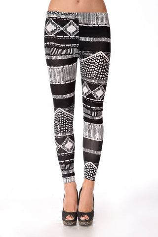 Geometric Lines Leggings Leggings & Jeggings- Available online on Buyvel