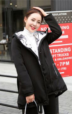 Double Sided Long Jacket For Women Black Winter Wear- Available online on Buyvel