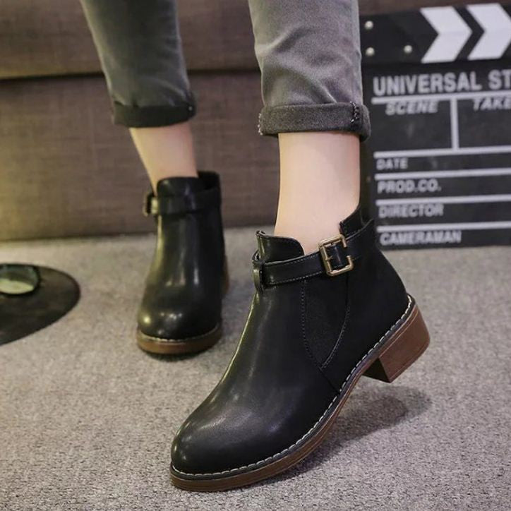 Buckled Boots Euro Style Black