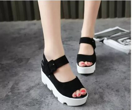 Fish Head High Heeled Blade Women Sandals