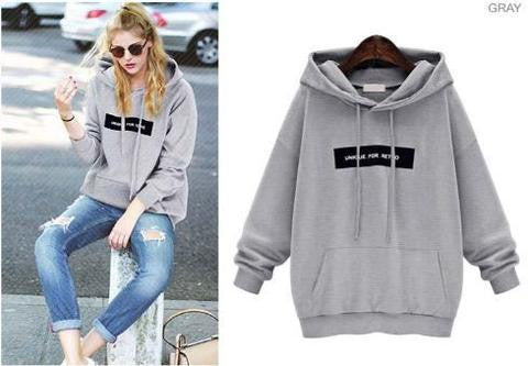 Unique Hoodie grey Winter Wear- Available online on Buyvel