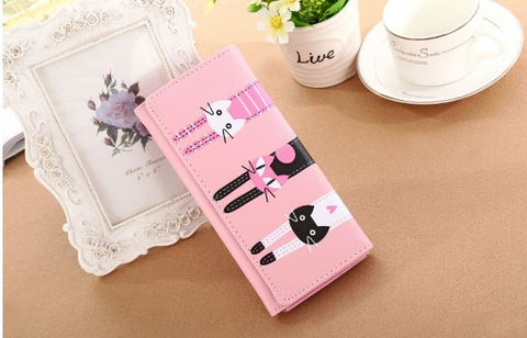 Cat Wallet Pink Wallets & Clutches- Buyvel