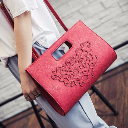 Embossed Clutch Cum Sling Korean Creative Bags- Available online on Buyvel