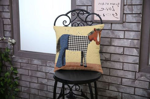 Cartoon Cotton Vintage Linen Cushions Covers - Buyvel