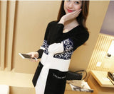 Knit Korean Style Cardigan Black Winter Wear- Available online on Buyvel