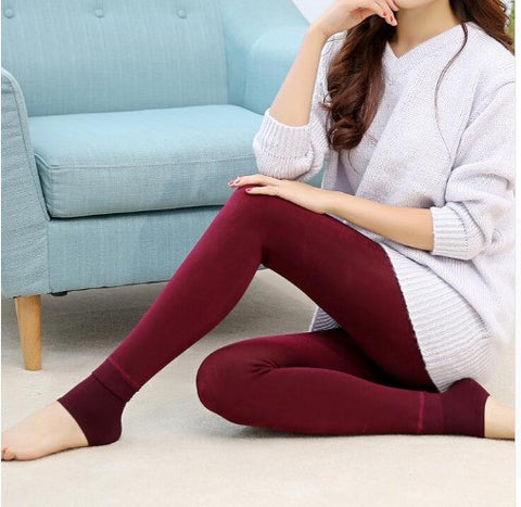Winter Warm Leggings With Fleece Fur Inside Winter Wear- Available online on Buyvel