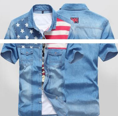 US Flag New Pattern Shirt Men's Shirt- Available online on Buyvel