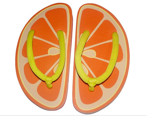 Unisex Adorable fruit design flip flops bathroom slippers Women's Sandals- Buyvel