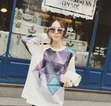 Triangle Print Sweater Winter Wear- Available online on Buyvel