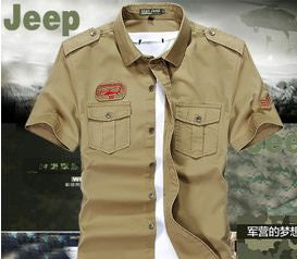 US Army Khaki Shirt Men's Shirt- Available online on Buyvel