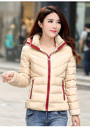 Beige Jacket With Red Border Winter Wear- Buyvel