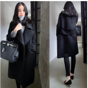 Black Over Coat Winter Wear- Buyvel