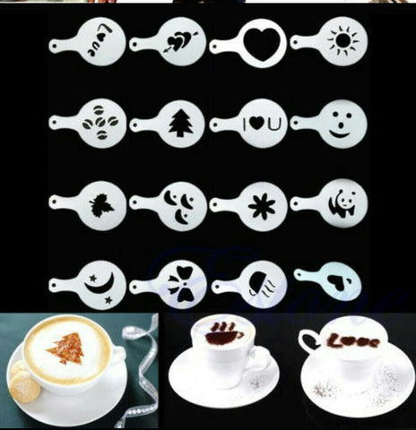 Coffee Stencils Set Of 16 Home& Kitchen- Available online on Buyvel