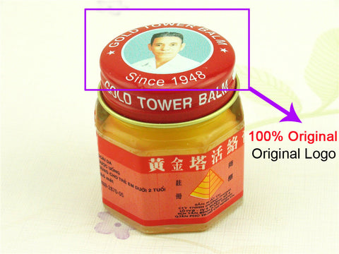 100% Original Vietnam Gold Tower Balm Pain Relieving Ointment Health & Beauty- Available online on Buyvel