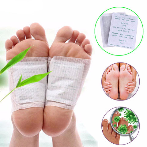 20pcs Detox Bamboo Foot Patch Body Relaxation Help Sleep Stress Reliever