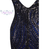 Sequin Vintage Gatsby Party Mermaid Long Evening Dress Dresses- Available online on Buyvel