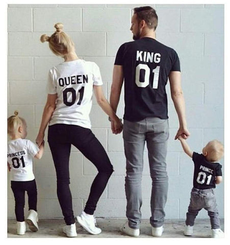 King Queen Family Matching Outfits