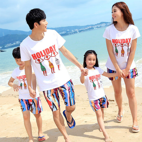 Holiday Family clothing set cotton