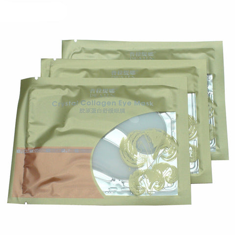 6Pcs(3 Pair) Gold Natural Crystal Collagen Anti Aging & Dark Circles Eliminating Eye Mask Patches