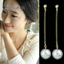 White Pearl Dangle Earing Head2Toe- Available online on Buyvel