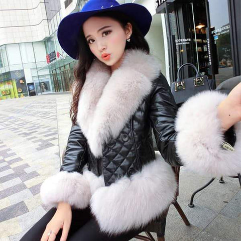 Fur Jacket Black Winter Wear- Available online on Buyvel