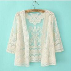 Embroydery Pattern Net Summer Shrug Shrugs & Summer Jackets- Buyvel