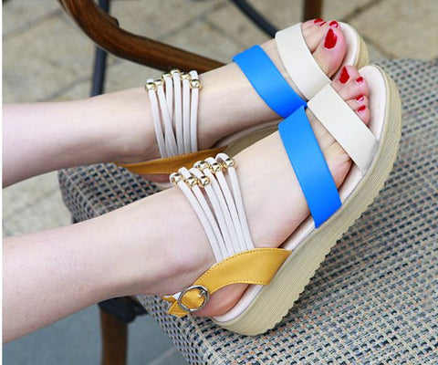 Korean Version Flat Sandals Bohemian Style Women's Footwear- Available online on Buyvel