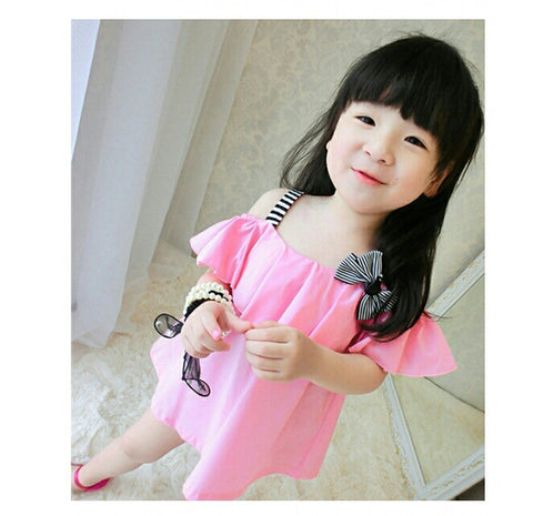 Cut Sleeves Baby Pink Top Girl's dresess- Available online on Buyvel