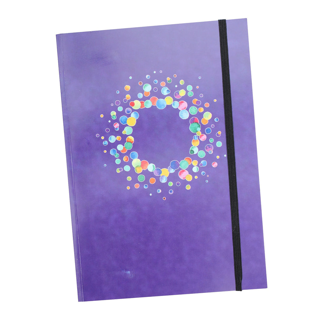 A5 Amethyst Notebook with elastic closure