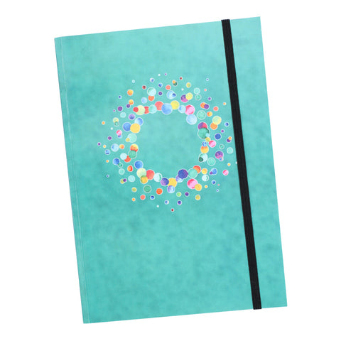 A5 Aquamarine Notebook with elastic closure