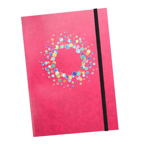 A5 Fuchsia Notebook with elastic closure