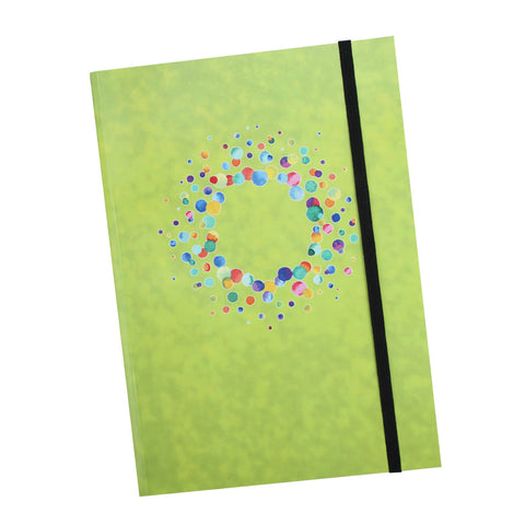 A5 Lime Notebooks with elastic closure
