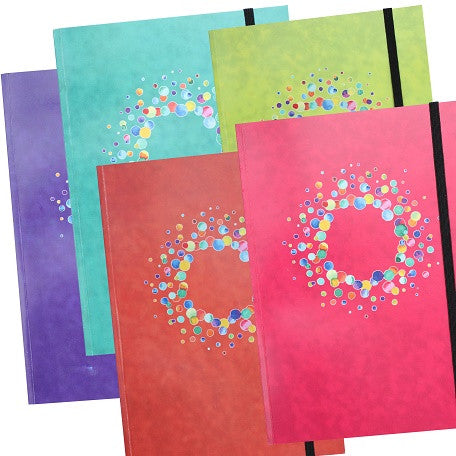 Pack of 5 A5 Notebooks with elastic closure