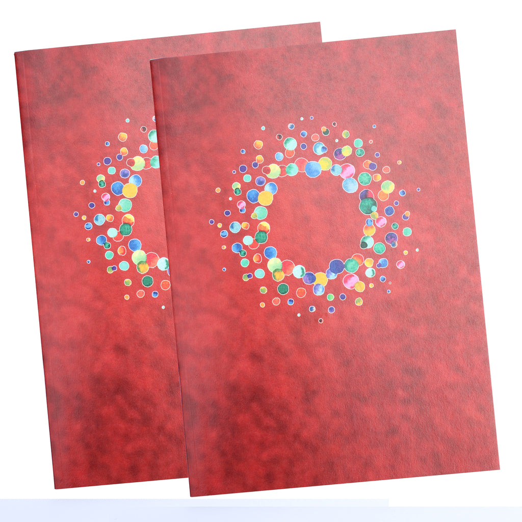 Two pack A5 Paprika Notebooks