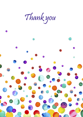 Pack of 10 A6 Thank You Cards