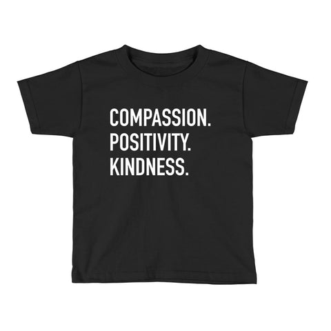Compassion Positivity Kindness Kids Tee