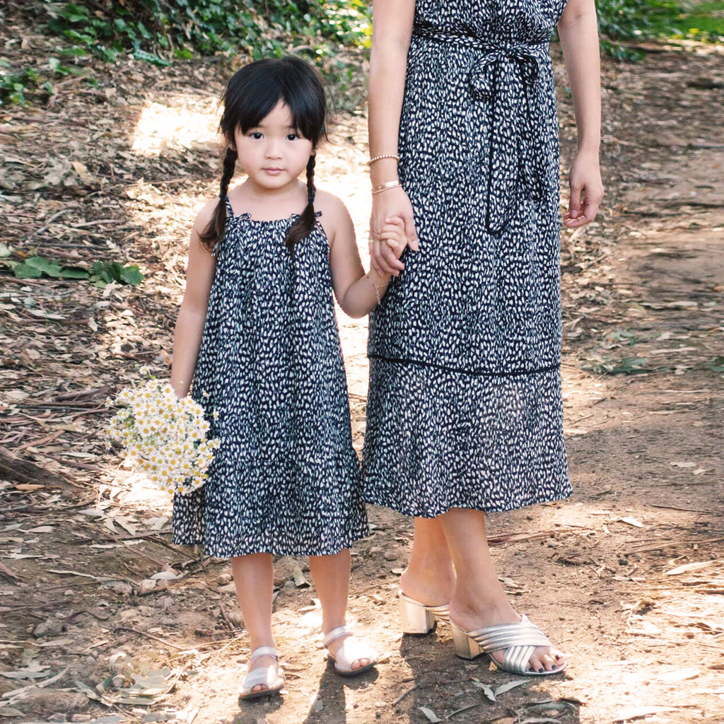 Mommy & Me Yasmine Animal Print Halter Dress