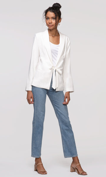 women's white blazer business casual