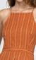 orange stripe button front dress