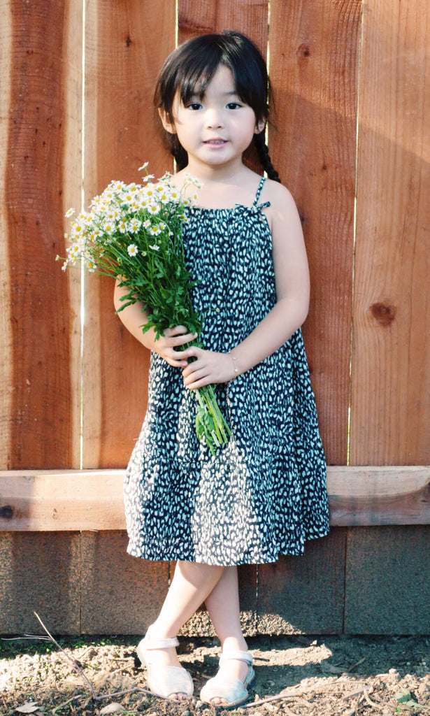 Yasmine Animal Print Halter Dress Kids Limited Edition
