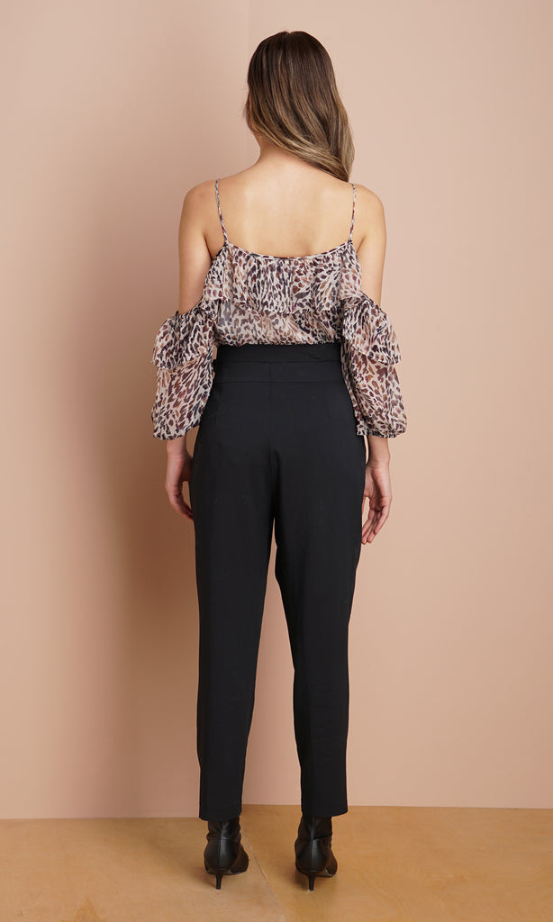 Minelli Belted High Waisted Pants