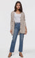 women's beige knit cardigan button up sweater