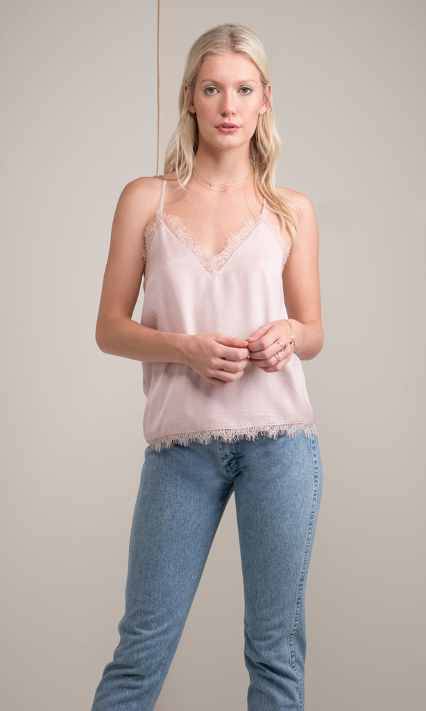 light pink lace cami valentines day