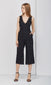 black deep-v culotte jumpsuit