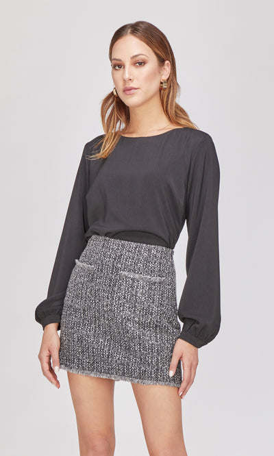gray knit skirt
