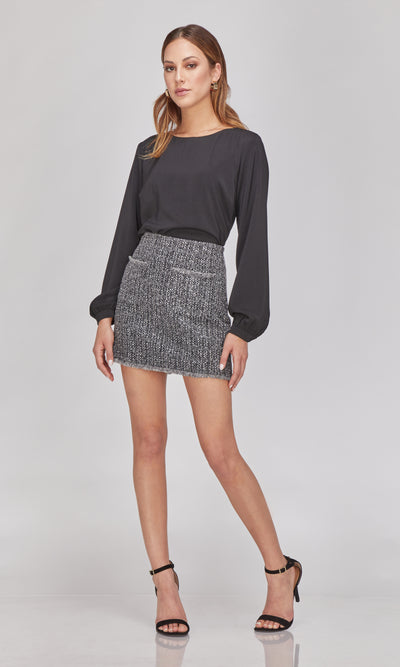 Veronica Boucle Knit Skirt